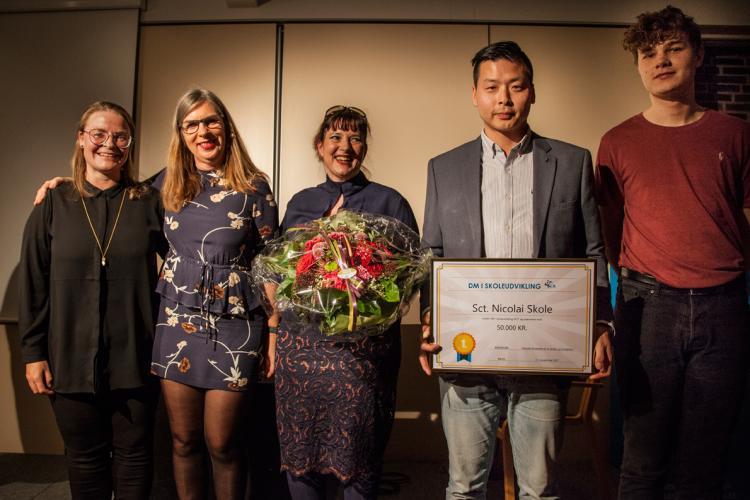 Kåring af vinderne af DM i Skoleudvikling på Skole og Forældres landsmøde i november 2017.